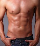 Muscular young man Royalty Free Stock Images
