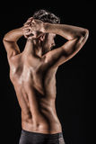 The Muscular Young Sexy Naked Cute Man Stock Images