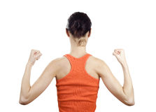 Muscular young woman Royalty Free Stock Photos