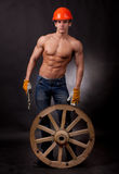Muscular young worker Stock Photography