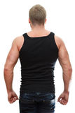 Muscule man rear view Stock Photography