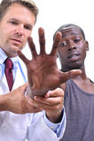 Musculoskeletal läkarundersökning av handen fotografering för bildbyråer