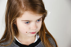 Portrait of sweet Girl. A young girl with a thoughtful expression Royalty Free Stock Photo