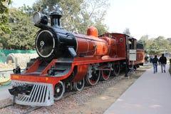 Musée antique de rail de moteur de rail Photos stock