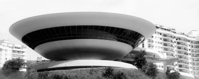 Musée d'Art dans la ville de Niteroi Photographie stock libre de droits