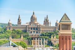 Musée d'art national à Barcelone Photos stock