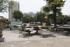 Musée de restes de guerre en Ho Chi Minh, Vietnam Photographie stock