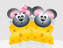 Mäuse in der Liebe Stockfotos