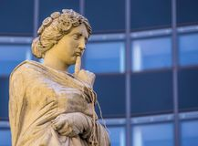Snug muse hung with rope in front of the Augustineum of the Univ Royalty Free Stock Photography