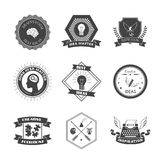 Muse Label Set. Muse brainstorm creative solution and inspiration label set isolated vector illustration Royalty Free Stock Photos