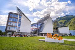 MuSe museum in Trento Museum of Natural History designed by Renzo Piano Royalty Free Stock Image