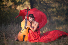 Muse for musicians. Inspired by the girl playing the cello Stock Photos