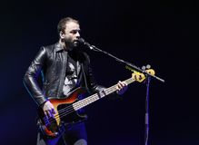 Muse Performs no concerto imagens de stock royalty free