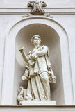 Muse statue on the wall of Linderhof Palace in Germany, Bavaria Stock Photos