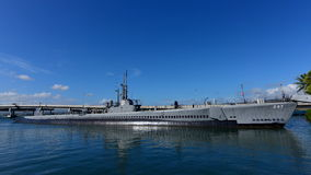 Musée submersible d'USS Bowfin à la perle Habor Image stock