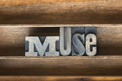 Muse wooden tray Royalty Free Stock Images