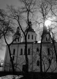 Musea in de Kerk van Kyiv St Cyril's, het de 12de eeuw architecturale monument - Kyiv - de Oekraïne stock fotografie