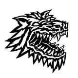 Museau d'un monstre terrible de loup-garou Illustration de vecteur Image libre de droits