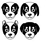 Museau de Puppy Dessin animé Images stock