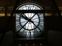 Musee d'orsay clock Stock Photography