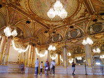 Musee D'Orsay French golden mirrors and painted ceilings Royalty Free Stock Photo