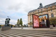 Musee D ` Orsay i Paris, Frankrike Royaltyfria Bilder