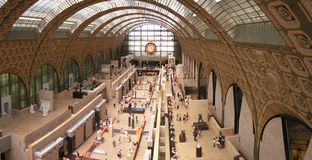 Musee d'Orsay - interior Royalty Free Stock Photos