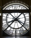 Musee d'Orsay Museum Clock. Extremely large, clock visible from the outside of the Musee d'Orsay Museum in Paris, France Stock Photo