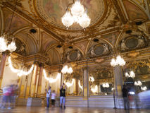 Musee D'Orsay - painted ceilings and beautiful golden French mirrors Stock Photography