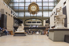 Musee d'Orsay in Parijs, Frankrijk stock afbeelding