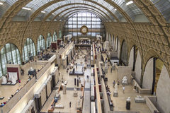 Musee d'Orsay in Paris, France Royalty Free Stock Images