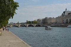 Musee d'Orsay, River Seine, Paris, France Stock Photography