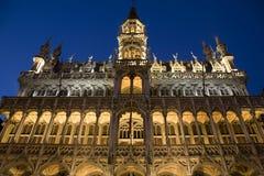 musee de la Ville de布鲁塞尔正面图 库存照片