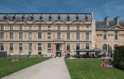 Musee des Arts Decoratifs, Paris. Paris, France, August 30, 2015: Entrance and outdoor cafe, Musee des Arts Decoratifs Stock Images