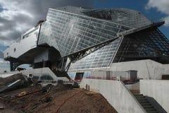 Musee des Confluences, κάτω από την κατασκευή Στοκ εικόνα με δικαίωμα ελεύθερης χρήσης
