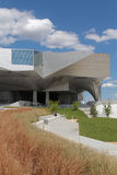 Musee des Confluences and its park Royalty Free Stock Image
