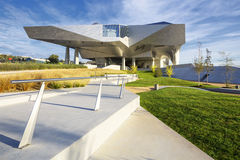 Musee des Confluences. LYON, FRANCE, OCTOBER 8, 2015 : Musee des Confluences is a science and anthropology museum which opened on 20 December 2014 at the Stock Images