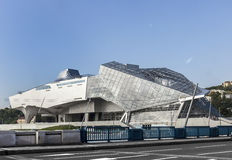 Musee des Confluences is a science and anthropology museum Royalty Free Stock Photos