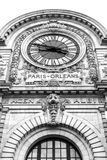 Musee dorsay. Clock outside view paris-orleans Royalty Free Stock Image