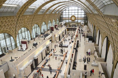 Musee dOrsay. Hall of Musee d'Orsay in Paris, France Stock Photos