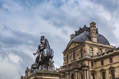 Musee du Louvre Imágenes de archivo libres de regalías