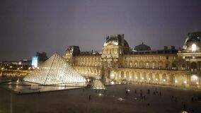 Free Musee Du Louvre, Ariel View Of The Louvre Museum And The Pyramid, Paris, France Stock Photos - 179401253