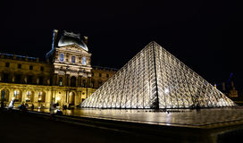 Musee du Louvre in the evening � Paris, France Royalty Free Stock Image