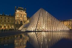 Musee du Louvre, París, Francia imagen de archivo