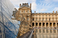 Musee du Louvre in Paris Stock Images