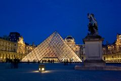 Musee du Louvre, Paris, France Photographie stock