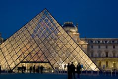 Musee du Louvre, Paris, France Image stock