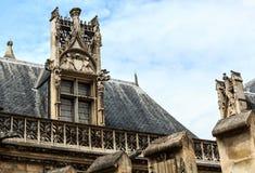 巴黎Musee National Du Moyen年龄Thermes de Cluny 图库摄影