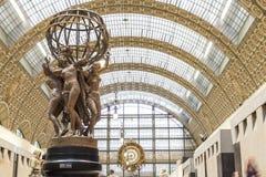 Musee som är d'Orsay i Paris, Frankrike Royaltyfria Bilder