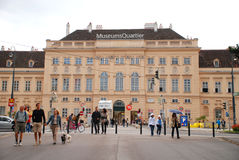 Museer Quartier i Wien Royaltyfria Foton